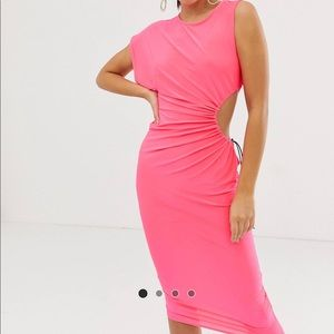 ASOS Midi Neon Dress with Open Side sizeUS 6